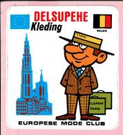 Sticker - DELSUPEHE Kleding - Europese Mode - België - Autocollants
