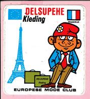 Sticker - DELSUPEHE Kleding - Europese Mode - Frankrijk - Autocollants