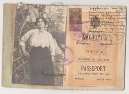 BULGARIA Passport 1915 BULGARIE Passeport – Reisepaß – Revenues/Fiscaux - Documents Historiques