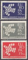 TURCHIA - 1961 - Serie Completa Di 3 Valori Nuovi MNH: Yvert 1599/1601, Europa. - Nuovi