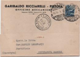 Pistoia: Officine Meccaniche Garibaldo Ricciarelli. Viaggiata 1950 - Pistoia