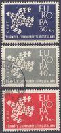 TURCHIA - 1961 - Serie Completa Di 3 Valori Usati: Yvert 1599/1601, Europa. - 1921-... Republic