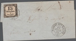 France Taxe Lettre 1869 N° 3 GC Nogent Sur Marnes, G évidé Dans Un Cercle - Postmark Collection (Covers)
