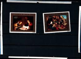 6550B)  HAUTE VOLTA  - 1972, Natale Dipinti Set - Cto - Sg 397/8- MNH** - Alto Volta (1958-1984)