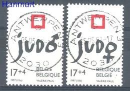 Belgium 1997 Mi 2755-2756 Cancelled ( SZE3 BLG2755-2756 ) - Judo