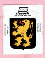Sticker - DC - DECOCK - Quality Foods - Provincie Brabant - Autocollants