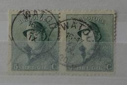 Roi Casqué COB 167 Belle Oblitération Double Rare Watou - 1919-1920 Roi Casqué