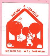 Sticker - Avond 4 Daagse - Het Giels Bos - W.S.V. Beekakkers - Autocollants