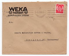 1938 YUGOSLAVIA, SLOVENIA, MARIBOR TO BELGRADE, WEKA, COMPANY LETTERHEAD COVER - 1931-1941 Kingdom Of Yugoslavia