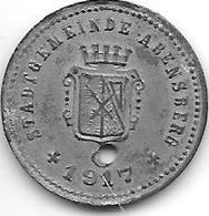 *notgeld  Abensberg 5 Pfennig 1917 Zn    19,5 Mm 79.2 /F3.2 - Other