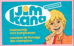 Sticker - Jim Kana Cheesestick - Kaaswostje Voor Kampioenen - Autocollants