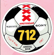 Sticker - AMSTERDAM 712 - Mascotte - SONY - Amstel Bier - 1987 - Autocollants