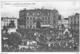 COGNAC CAVALCADE DE LA MI CAREME 1908 LE CHAR LA MUSIQUE TBE - Cognac