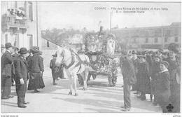 COGNAC FETE DES REINES DE MI CAREME 6 MARS 1910 VOITURETTE FLEURIE TBE - Cognac