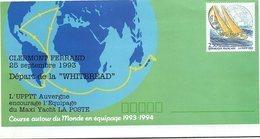 FRANCE- LETTRE ENTIER POSTAL 2.50 POSTIERS AUTOUR DU MONDE - DEPART WHITBREAD 25.9.1993 CLERMONT FERRAND    / 1 - Biglietto Postale