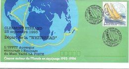 FRANCE- LETTRE ENTIER POSTAL 2.50 POSTIERS AUTOUR DU MONDE - CACHET DEPART WHITBREAD CLERMONT FD 25.9.93 / 1 - Biglietto Postale
