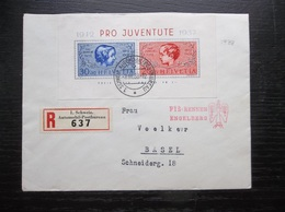 Helvetia: 1937 Rgt. S/S To Basel (#BS7) - Switzerland