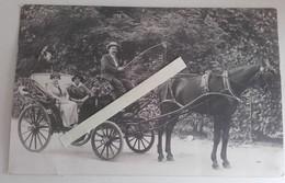 1920 Bédarieux Lamalou Calèche Voiture à Cheval Hérault Delestaing Photographe - Guerra, Militari