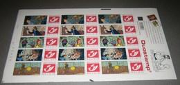 2001 - DUOSTAMP-TINTIN - Kuifje - Hergé - Duostamps MNH - Tim & Struppi - Full Sheets