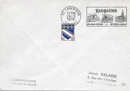 LANGOIRAN (26) Son Vieux Château, Son église Romane, Au 26-3-1976 - SUP - Postmark Collection (Covers)