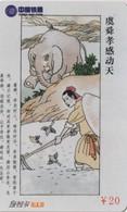 TARJETA TELEFONICA DE CHINA. HISTORIAS CHINAS. ELEFANTE - ELEPHANT. BSCRC-JG-2004-W4-(24-22). (698) - China