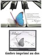 783  Butterflies - Music - Piano - Papillons - 2009 - Postal Sta. - Unused - Cb - 2.75 - Butterflies