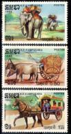 233  Horses - Elefants - Coaches - Kampuchea - MNH - 1,50 - Pferde