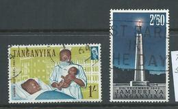 Tanganyika 1961 Definitives 1 Shilling Hospital & 1962 2/50 Monument  FU - Tanzania (1964-...)
