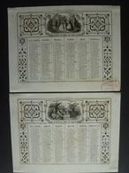 ALMANACH 1957 CALENDRIER  ANNUEL 2 Semestriels Lithographie Allegorie Jeux & Présents ,arabesque   Dubois Trianon S4P4 - Calendriers