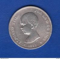 Espagne  5  Pesetas  1891 - [ 2] 1931-1939 : République