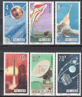 1986  Michel Nº 2046 / 2051   MNH, Investigación Espacial Y Ciencia - 1949 - ... República Popular