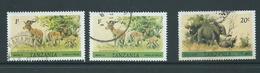 Tanzania 1980 Wildlife Definitives 1 Shilling Impala X 2 & 20 Shilling Elephant FU - Tanzania (1964-...)