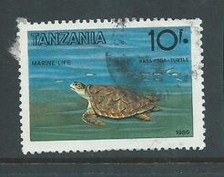 Tanzania 1986 10 Shilling Turtle FU - Tanzania (1964-...)