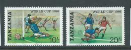 Tanzania 1986 10 & 20 Shilling Soccer World Cup FU - Tanzania (1964-...)