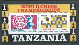 Tanzania 1986 Chess & Rotary Miniature Sheet MNH - Tanzania (1964-...)