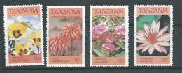 Tanzania 1986 Flowers Set Of 4 MNH - Tanzania (1964-...)