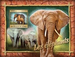 Guinea, 2016. [gu16308] Elephants (s\s+block) - Elephants
