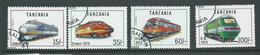 Tanzania 1991 Trains Part Set Of 4 FU - Tanzania (1964-...)