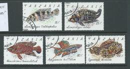 Tanzania 1992 Fish Part Set Of 5 FU - Tanzania (1964-...)