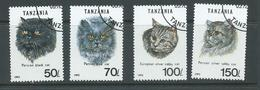 Tanzania 1992 Cats Part Set 4 FU - Tanzania (1964-...)