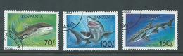 Tanzania 1993 Sharks Part Set 3 FU - Tanzania (1964-...)