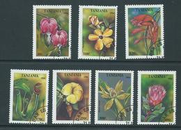 Tanzania 1995 Flowers 7 Values To 400 Shillings FU - Tanzania (1964-...)
