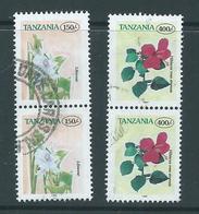 Tanzania 1997 150 & 400 Shilling Flower Definitive Pairs FU - Tanzania (1964-...)