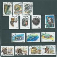 Tanzania 1992 - 1994 Selection Of Part Sets And Singles FU (14) - Tanzania (1964-...)
