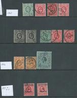 East Africa & Uganda 1907 - 1919 Selection Of 17 Used , 1 Mint - Kenya, Uganda & Tanganyika