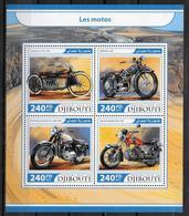 DJIBOUTI  Feuillet  N°  1512/15  * * ( Cote 20e ) Moto - Moto