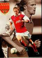 BLEU BLANC FOOT...EMMANUEL PETIT....CPM VOIR DOS - Soccer