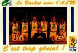 LE BASKET AVEC L'AML...EVREUX...CPA AVEC EQUIPE...VOIR DOS - Basketbal