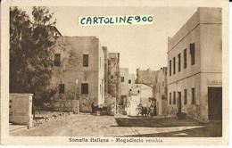Colonie Italiane Colonia Somalia Italiana Mogadiscio Vecchia Animata Veduta Via Di Mogadiscio (f./piccolo) - Somalia