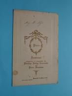 Plechtige COMMUNIE Menu Pierre WAUMANS Baesrode 25 Maart 1928 ( Voir / Zie Foto's Voor Detail ) M. Nijs ! - Menus